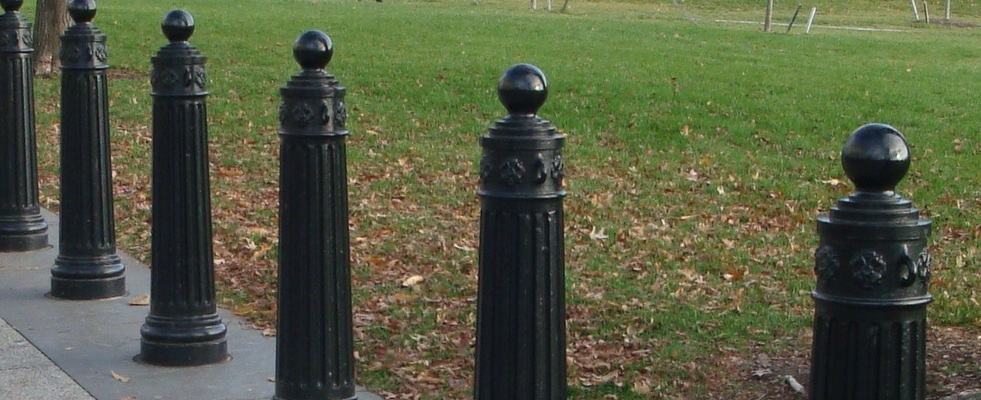decorative bollards installed